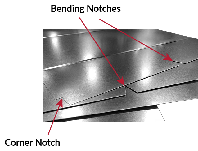v notch and corner notch: their role in the rectangular duct fabrication  processes